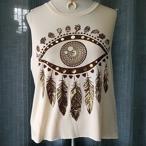 Boho Feather Top